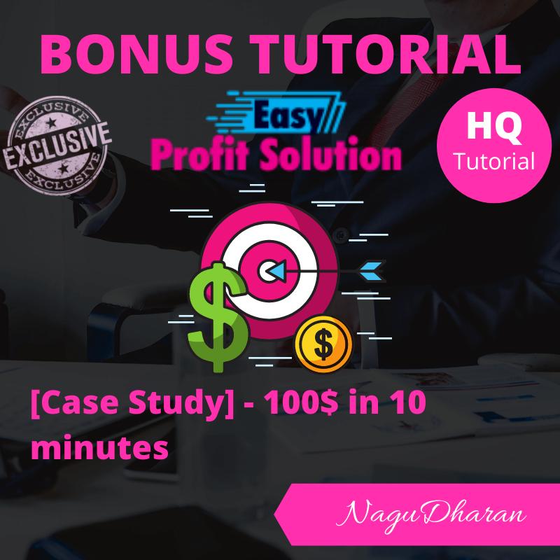 Easy profit Solution Bonus #1