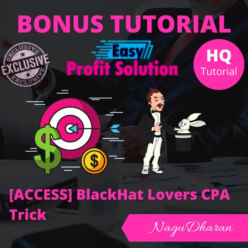 Easy Profit Solution Bonus #4