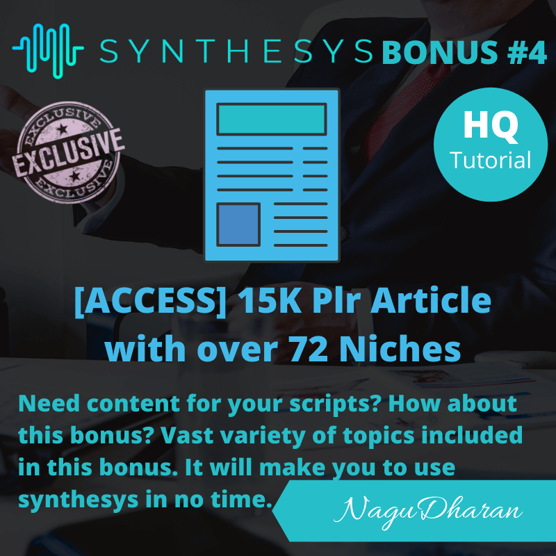 Synthesys Review Bonus #4
