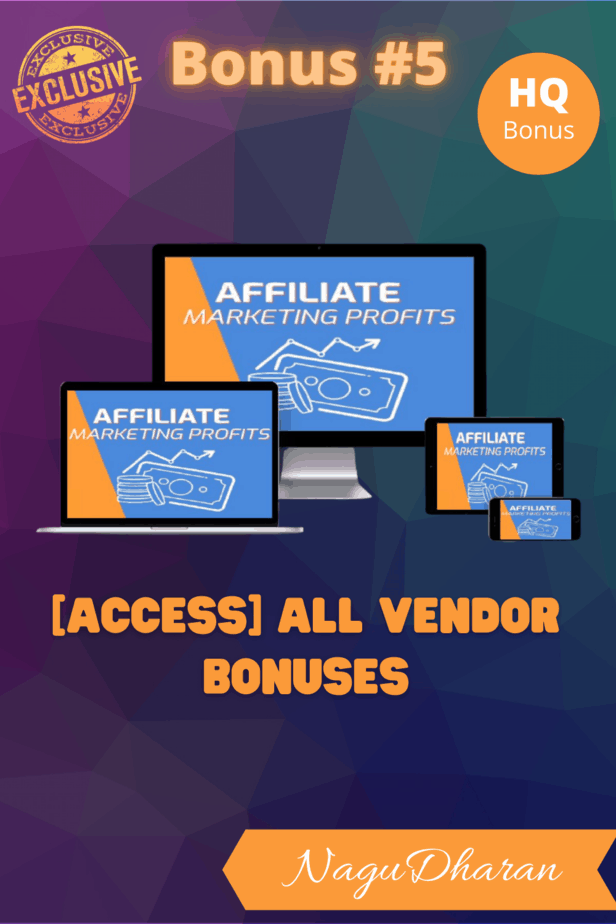 Affiliate Marketing Profits Bonus 5