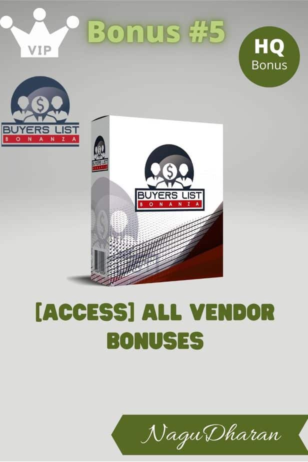 Buyers List Bonanza Review Bonus 5